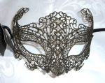 Genuine Venetian Burano Lace Black & Gold Mask (1) (1)